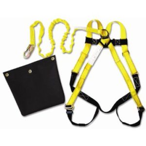 Guardian Fall Protection 17200 ALK IS-72-Aerial Lift Kit-HUV - 01101 with Attached 6-Foot Internal Shock Lanyard - 11200 and Aerial Lift Bag