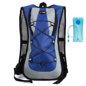 Hydration Pack Backpack - Outdoor sports cycling water bag bag bike bag backpack trip to the mountains water bag - color blue