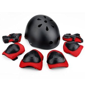 Jumphigh Children Sports Knees Elbows Wrists Head Support Protection Helmet Set for Unisex Kids Skateboard Cycling Roller Skating Extreme Sports