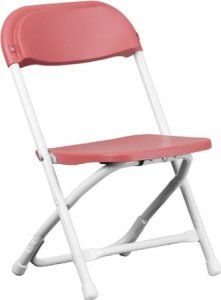 Kids Burgundy Plastic Folding Chair