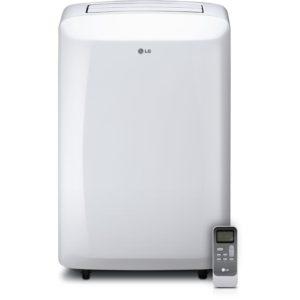 LG 10,000 BTU 115V Portable Air Conditioner with Remote Control, White