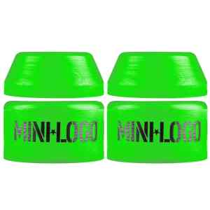 MINI LOGO Skateboard Bushings for 2 Trucks Soft Green 84a