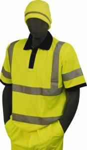 Majestic Glove 75-5311 Birdseye Polyester High Visibility Polo T-Shirt with 2 Reflective Tape, 4X-Large, Yellow