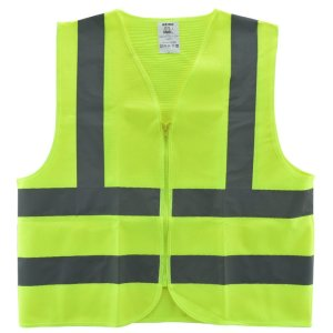 Neiko® 53941A High Visibility Safety Vest, ANSI ISEA Standard Color Neon Yellow Size L