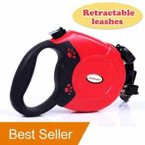 Petkinder Retractable 26ft Dog Leash Designed Sturdy Nylon Pet Leashes One Button Lock ONOFF Comfortable Ergonomic Hand Grip Use For Walking & Running