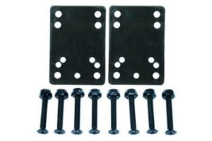 Standard Black Skateboard Hardware and Riser 14 Set(NC-101007001099-14)