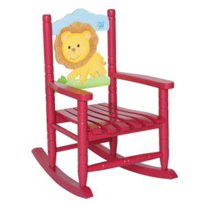 Teamson Kids - Safari Wooden Rocking Chair for Children - Lion