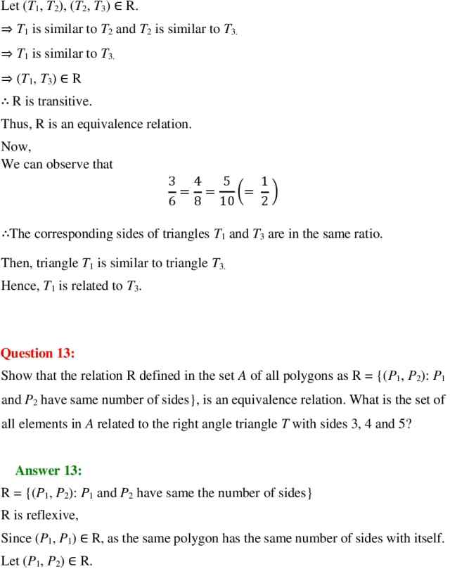 NCERT Solutions for Class 12 Maths Chapter 1 Exercise 1.1 PDF