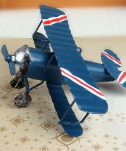 Avions Biplan Rétro Vintage Pour Décoration Intérieure Ou Cadeau 3