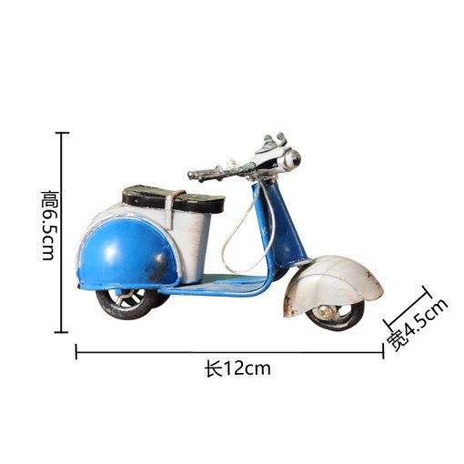 Scooter Rétro Vintage Fait Main Pour Décoration Intérieure ou Pour Cadeau 5