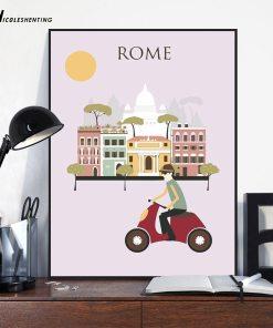 Affiches Vintage De Villes Pour Décoration 3