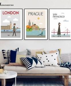 Affiches Vintage De Villes Pour Décoration