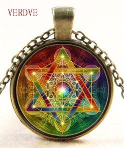 Pendentif Fleur de Vie - Chakra - Hexagramme Magique 3
