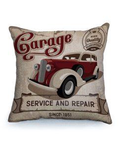 Housse de coussin vintage et rétro thème voitures classique 3