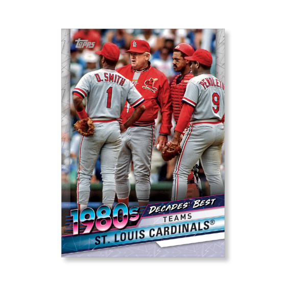 st louis cardinals 2020 topps baseball series 2 decades best poster to 99