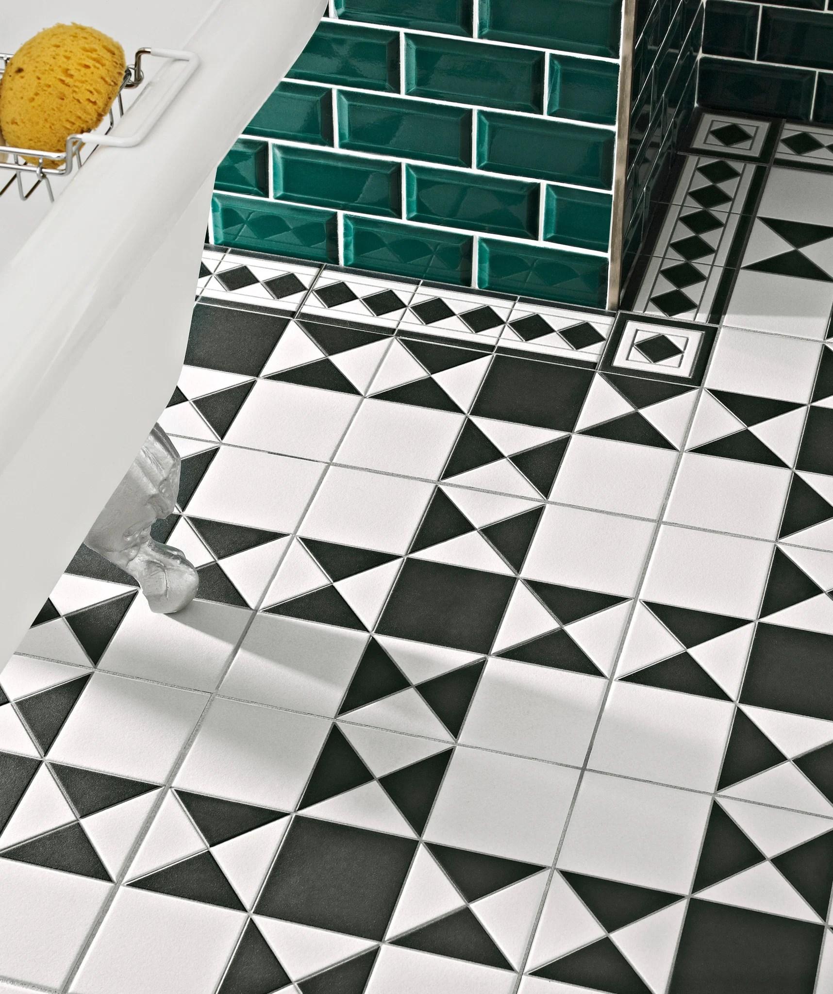 grosvenor black white tile