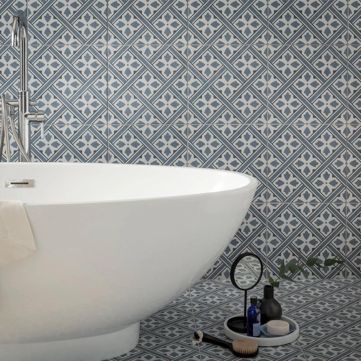 fleur grey tile 33cm x 33cm
