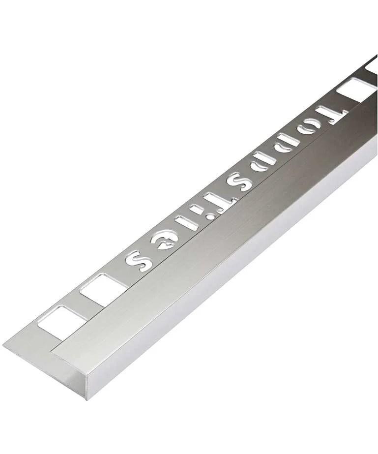 topps tiles 12 5mm stainless steel effect square edge trim