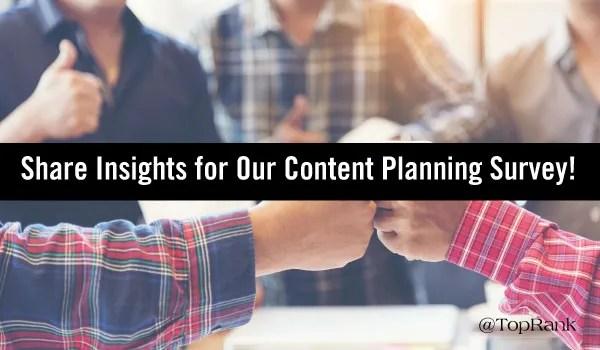 2018 Content Planning Survey