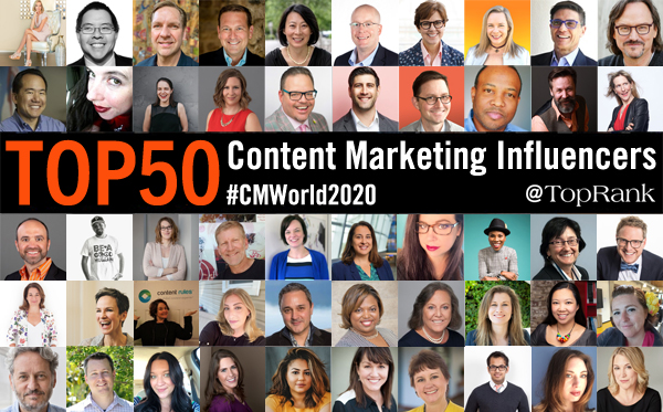 2020 CMWorld 50 Influenceurs Content Marketing
