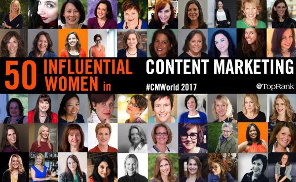 50 Influential Women Content Marketing