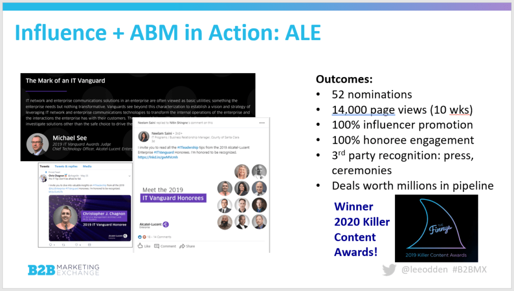 Alcatel Lucent Enterprise Campaign Results