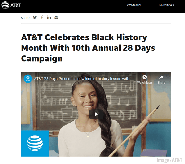 AT&T Black History Month Screenshot