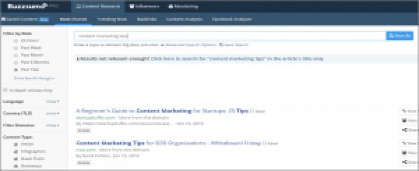 BuzzSumo for Twitter Content