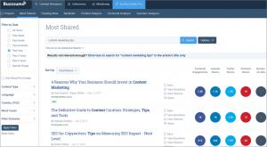 BuzzSumo Example Data-Informed Content Marketing