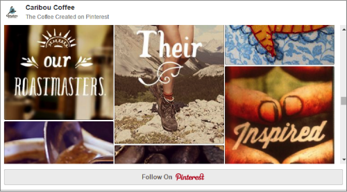 Caribou Coffee Pinterest