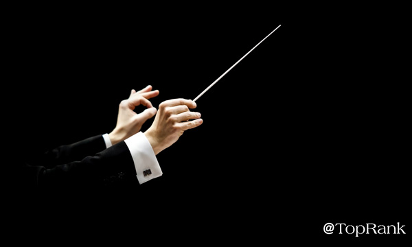 Orchestra conductor image.