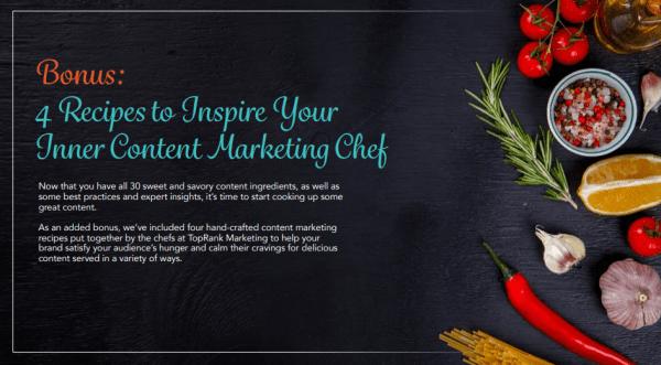 Content Marketing Recipe for Inner Chef