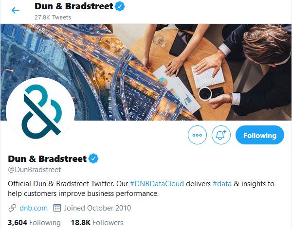 Dun & Bradstreet Twitter