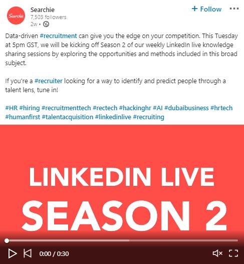 LinkedIn Live Image