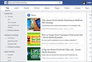 Facebook Native Search