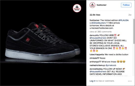 Footlocker Instagram