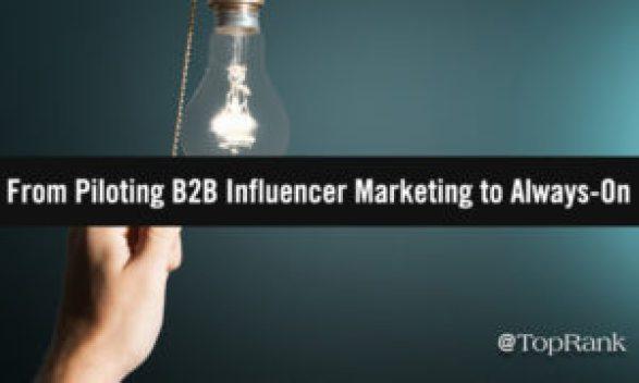 How To Transfer From A Pilot B2B Influencer Advertising Program