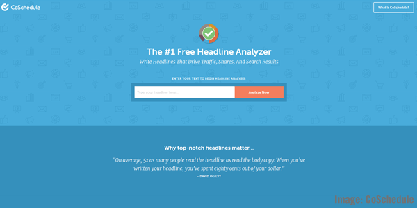 Headline Analyzer Screenshot