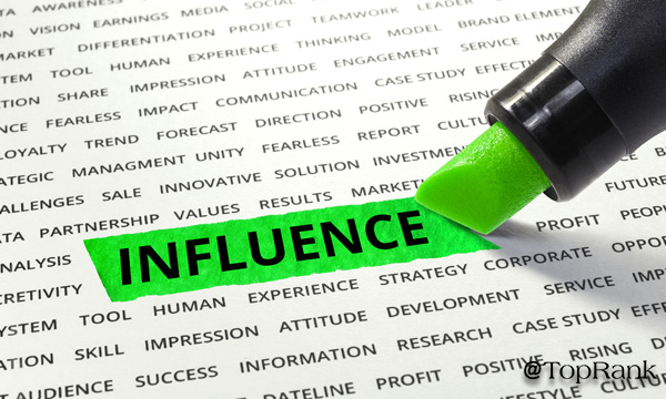 Influencer Word Highlighted by Marker
