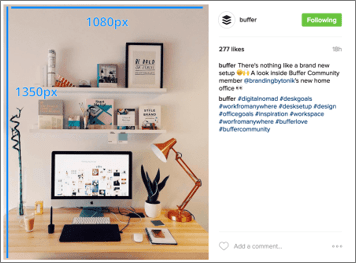 Example of Vertical Content on Instagram