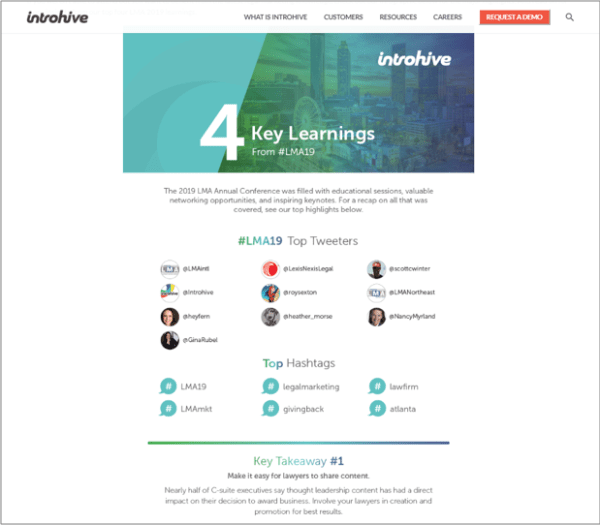 Content Curation Example from Introhive