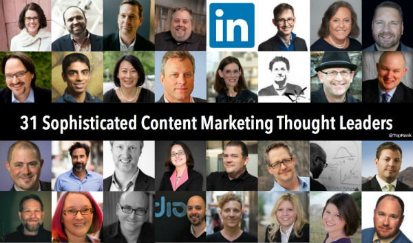 31 Sophisticated Content Marketers - LinkedIn