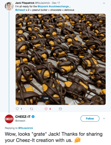 TopRank Marketing's Jack Fitzpatrick Gets Cheez-It Shout Out