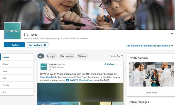 Siemens LinkedIn Image