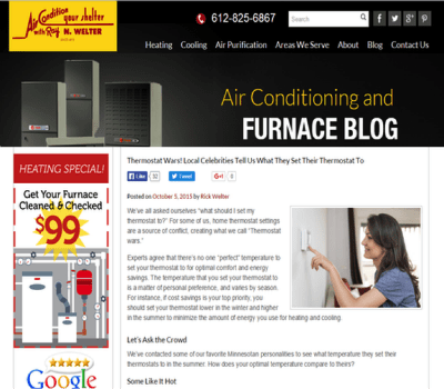 Welter Heating Influencers