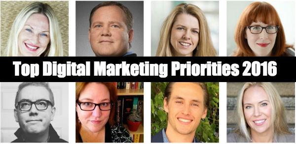 Digital Marketing Priorities 2016