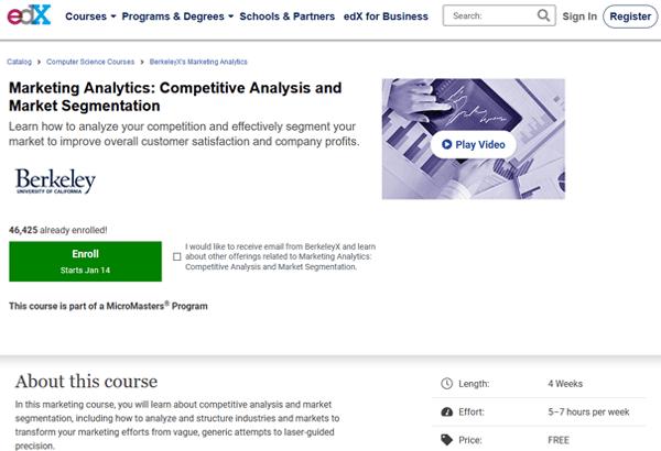 edX Marketing Analytics Course Image