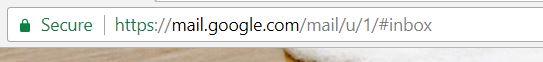 image showing green padlock on Chrome web browser