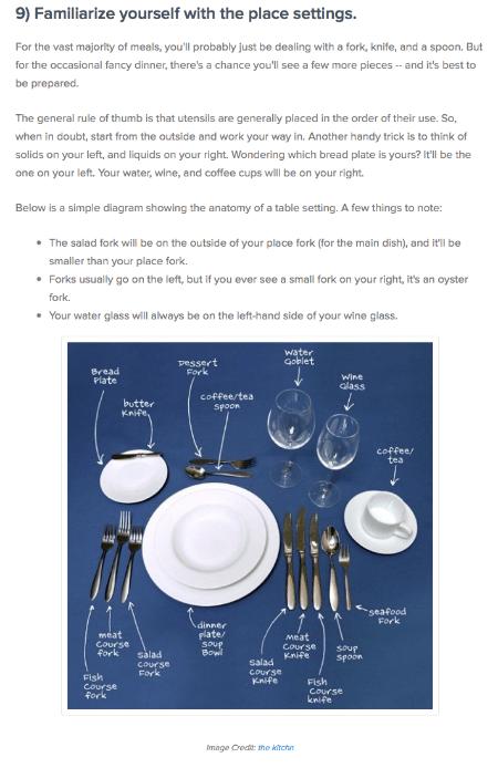 hubspot dining etiquette