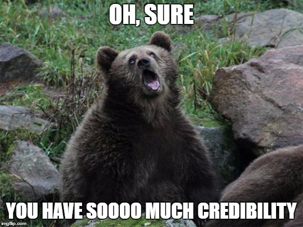 Sarcastic Bear Says Your Content Marketing Lacks Credibility